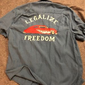 Legalize freedom. Lucky brand button down. Large.